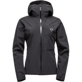 Black Diamond Fineline Stretch Rain Shell Jacket Women black